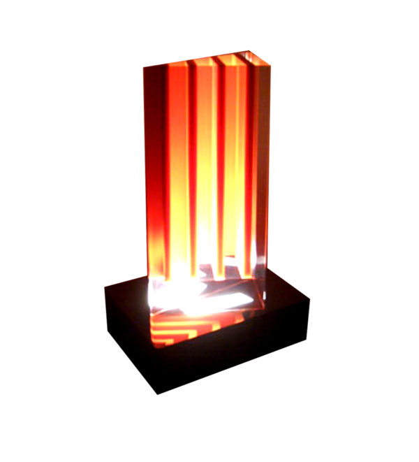 acrylic Lamp Red Stripes by Marco Pettnari