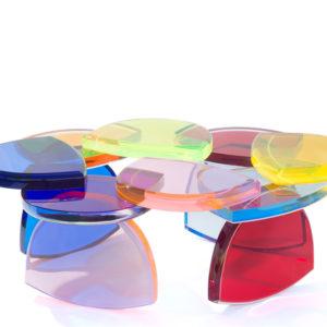 Plexiglas Coffee table BonBon By M.Pettinari