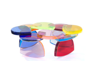 Plexiglas Coffee table BonBon By M.Pettinari