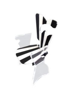 acrylic chair 'Stalle e strisce' cm 52x56h103 MP