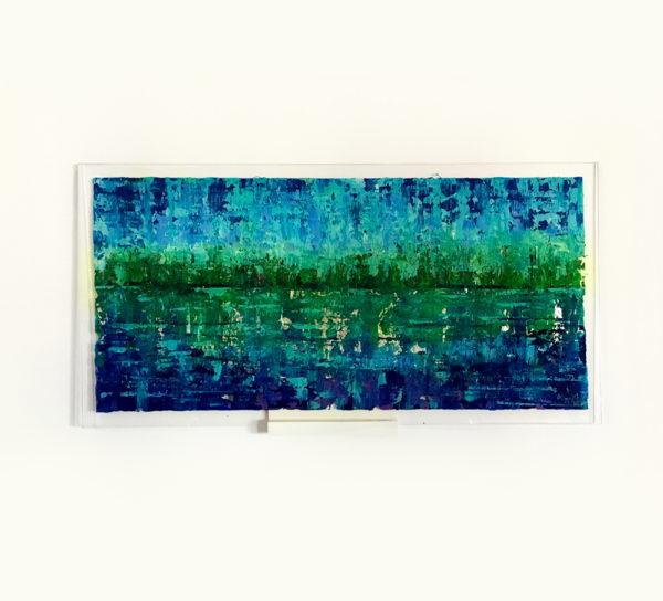 Acrylic inside acrylic painting Bule Dunaj Sida A