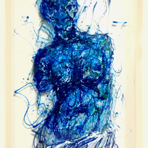 Aphrodite painting on plexiglass