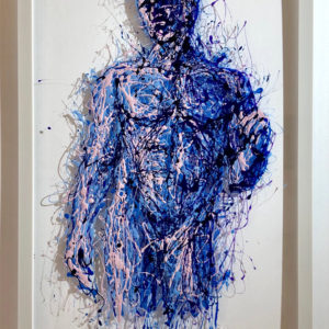 Doriforo painting on plexiglass