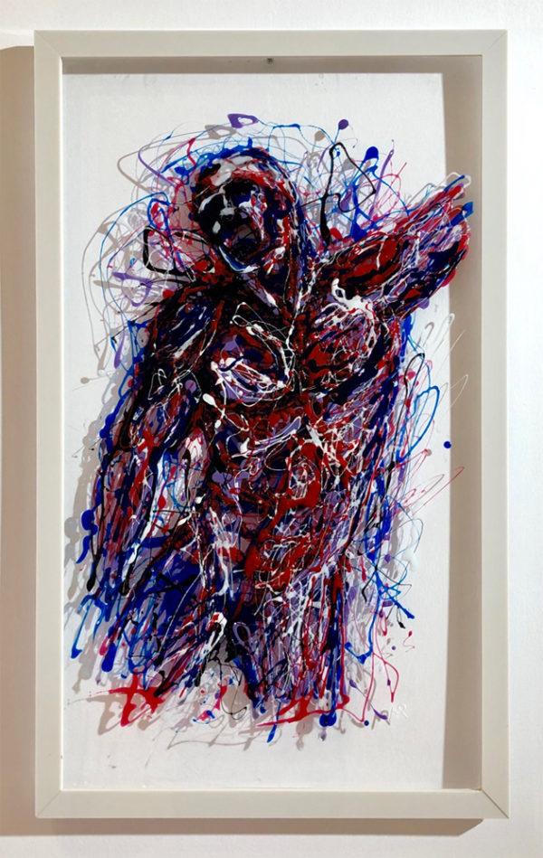 Tavola X painting on plexiglass
