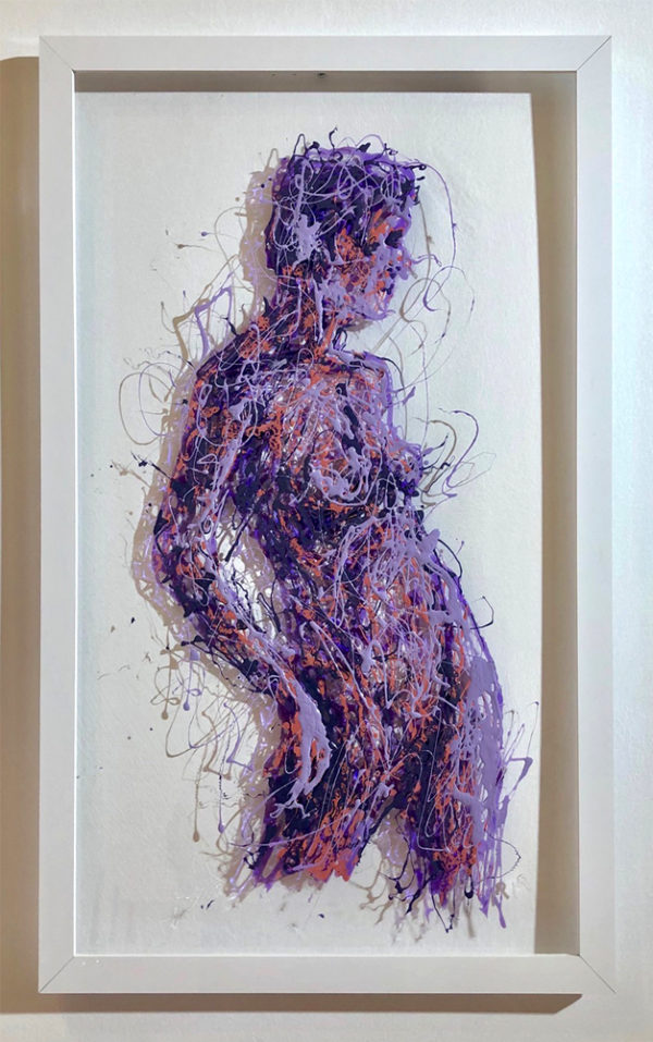 Viola painting on plexiglass